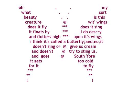 Concrete Poem Examples Montross Middle School Library